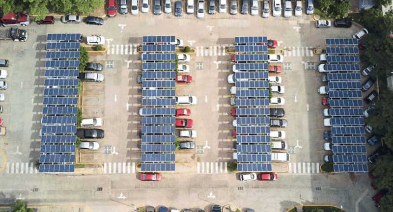 Le pensiline fotovoltaiche per la produzione di energia pulita